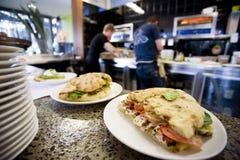 咖啡馆厨房午餐 图库摄影
