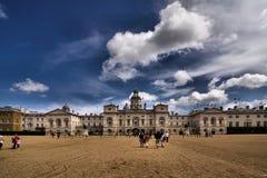 皇家骑马卫兵在伦敦游行 库存图片