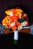 多种花婚礼花束  免版税图库摄影