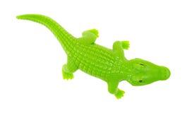 绿色玩具鳄鱼 免版税图库摄影