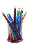 颜色铅笔和笔 库存图片