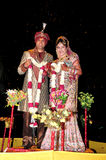 Ινδικοί νύφη και νεόνυμφος Στοκ Εικόνα