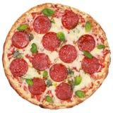 Салями пиццы Стоковое Фото