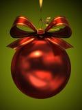 Κόκκινη σφαίρα Χριστουγέννων Στοκ φωτογραφίες με δικαίωμα ελεύθερης χρήσης