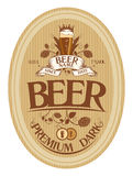 啤酒标签设计。 图库摄影