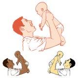 父亲和婴孩 免版税库存照片
