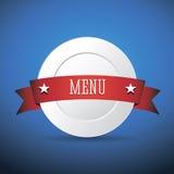 Шаблон меню ресторана Стоковое Изображение RF