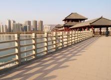桥梁栏杆 库存图片