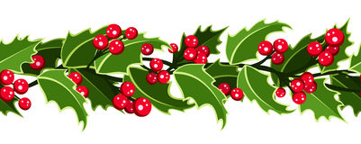 水平的无缝的圣诞节背景。 库存图片
