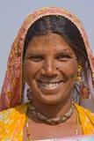 印第安妇女的纵向 库存图片
