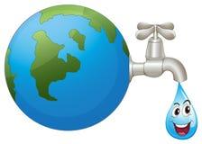 地球和水下落 免版税库存图片