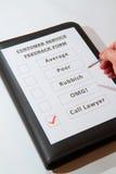 客户服务部反馈表单乐趣一 免版税图库摄影