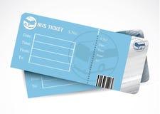 公共汽车票 免版税库存图片