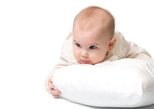 Младенец с подушкой Стоковые Фото