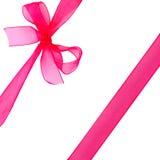 红色丝带和弓 免版税库存图片