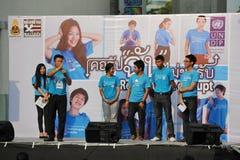 奇特的集会在曼谷 免版税库存照片