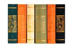 六个数量的书籍收藏 免版税库存照片
