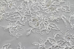 Деталь платья венчания Стоковое Изображение