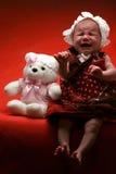 哀伤的婴孩 免版税库存图片