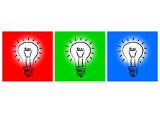 三电灯泡 免版税库存图片