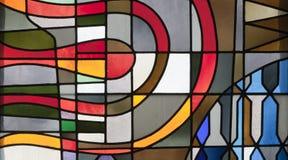 布鲁塞尔-现代窗玻璃详细资料  免版税库存照片