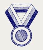 奖牌证书 免版税库存照片