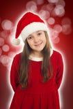 美好圣诞节女孩微笑 免版税库存图片