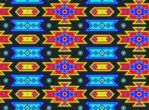 无缝的墨西哥荧光的模式 库存照片