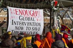 Ελεύθερο Θιβέτ Μάρτιος Στοκ Φωτογραφία