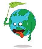 疲乏的地球 免版税库存照片