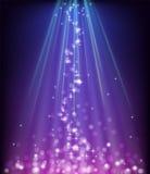Абстрактная накаляя голубая пурпуровая предпосылка Стоковая Фотография