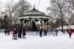 冬天妙境在海德公园,伦敦 库存照片