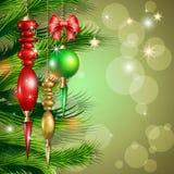 Σφαίρες μορίων ανασκόπησης Χαρούμενα Χριστούγεννας Στοκ φωτογραφίες με δικαίωμα ελεύθερης χρήσης