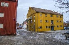 Сохраненное деревянное здание (северный мор-сарай) Стоковые Фото