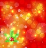 圣诞节与装饰的节假日墙纸 免版税库存照片
