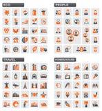 Иконы сети вектора Стоковая Фотография