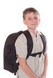 男小学生的纵向 免版税库存照片
