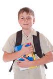 男小学生的纵向 库存图片