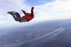 Φωτογραφία ελεύθερων πτώσεων με αλεξίπτωτο. Στοκ εικόνα με δικαίωμα ελεύθερης χρήσης