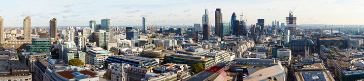 Город панорамы Лондона Стоковые Фото