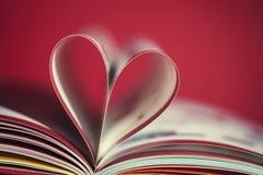 Книга с сердцем Стоковое фото RF