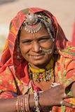 纵向印地安人妇女 库存照片