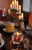 Κεριά Χριστουγέννων Στοκ Εικόνες