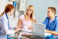 Ιατρικές διαβουλεύσεις Στοκ Εικόνα