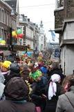 狂欢节街道执行者在马斯特里赫特 免版税库存照片