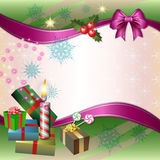 Ανασκόπηση Χαρούμενα Χριστούγεννας Στοκ Εικόνα