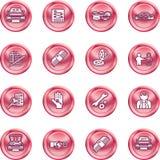 经销权图标集合通信工具 免版税库存照片
