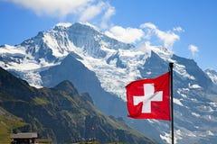 Флаг швейцарца Стоковые Фотографии RF