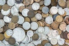 老美国硬币 库存图片