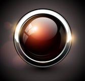 典雅的发光的按钮 库存照片